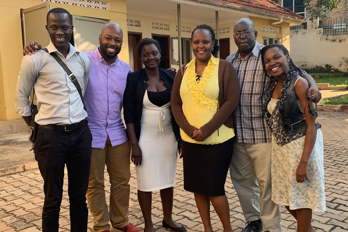 Jerome Wilson with African Prisons Project Team
