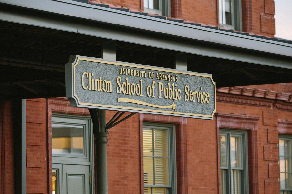 Clinton School Sign